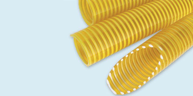 Manguera PVC Espiralada Amarilla